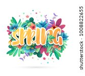 design symbol for spring.... | Shutterstock .eps vector #1008822655