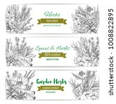 garden herbs and spices banner... | Shutterstock .eps vector #1008822895
