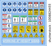 set of safety caution signs and ... | Shutterstock .eps vector #1008824455