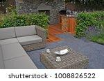 show garden with outdoor living ... | Shutterstock . vector #1008826522