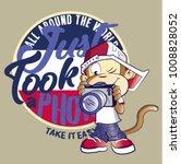 little monkey_ape... | Shutterstock .eps vector #1008828052