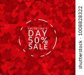 happy valentine's day. sale... | Shutterstock .eps vector #1008828322