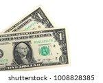 One Dollar Bills  Isolated On...