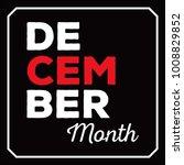 december month design | Shutterstock .eps vector #1008829852