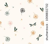 seamless pattern vector  with... | Shutterstock .eps vector #1008832732