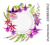 flowering orchids and herbs...   Shutterstock . vector #1008833812