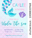 Mermaid Birthday Invitation....