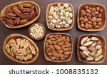 different kinds of nuts in... | Shutterstock . vector #1008835132