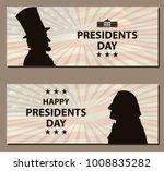 happy presidents day vintage... | Shutterstock .eps vector #1008835282