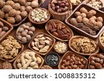different kinds of nuts in... | Shutterstock . vector #1008835312