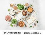 healthy diet vegan food  veggie ...   Shutterstock . vector #1008838612