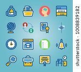 icon set about education and... | Shutterstock .eps vector #1008839182