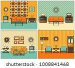 room interior. vector. retro... | Shutterstock .eps vector #1008841468