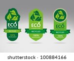 ecological recycle labels  ... | Shutterstock .eps vector #100884166