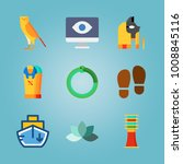 icon set about egypt with eagle ... | Shutterstock .eps vector #1008845116