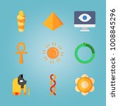 icon set about egypt with... | Shutterstock .eps vector #1008845296