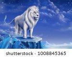 White Lion Digital Illustratio...
