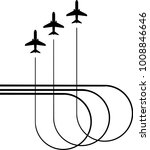 airplane flying formation  air...   Shutterstock .eps vector #1008846646
