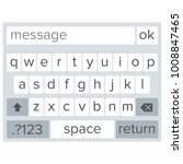 smartphone keyboard vector....