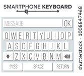 smartphone keyboard vector. abc ...