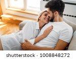 romantic couple in bed | Shutterstock . vector #1008848272