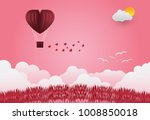 valentine's day balloons in a... | Shutterstock .eps vector #1008850018