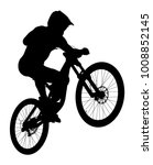 Jump Athlete Rider Mtb Downhil...