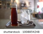 view of a bottle of cold brew... | Shutterstock . vector #1008854248