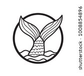 Mermaid Tail Logo Design....