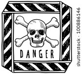 doodle style danger or warning... | Shutterstock .eps vector #100886146