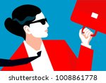 abstract portrait of business... | Shutterstock .eps vector #1008861778