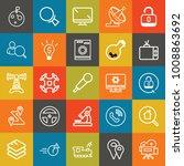 technology outline vector icon... | Shutterstock .eps vector #1008863692