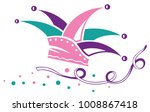 jester hat for carnival and... | Shutterstock .eps vector #1008867418