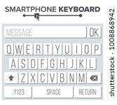 smartphone keyboard. alphabet...