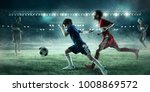 children play soccer. mixed...   Shutterstock . vector #1008869572