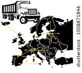 transport with truck in europe... | Shutterstock .eps vector #1008871846