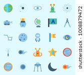 icons set about universe with... | Shutterstock .eps vector #1008879472