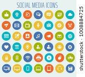 big social media icon set | Shutterstock .eps vector #1008884725