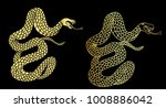 golden snake cobra tattoo.hand...   Shutterstock .eps vector #1008886042