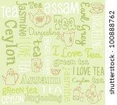 tea words sketchy doodles... | Shutterstock .eps vector #100888762