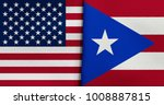 flag of usa and puerto rico | Shutterstock . vector #1008887815
