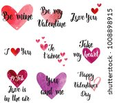 set of happy valentine's day... | Shutterstock .eps vector #1008898915