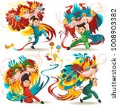 chinese lunar new year lion... | Shutterstock .eps vector #1008903382