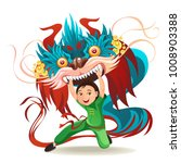chinese lunar new year lion... | Shutterstock .eps vector #1008903388