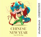 chinese lunar new year lion... | Shutterstock .eps vector #1008903505