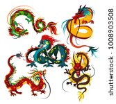 traditional chinese dragon ... | Shutterstock .eps vector #1008903508