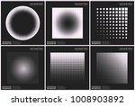 set 6 universal halftone... | Shutterstock .eps vector #1008903892