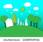 the family is happy and natural ... | Shutterstock .eps vector #1008904936