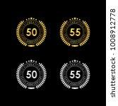 50 55 years anniversary... | Shutterstock .eps vector #1008912778