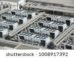 hvac systems rooftop  ... | Shutterstock . vector #1008917392